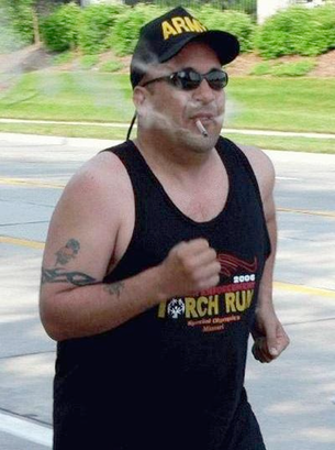 running while smoking