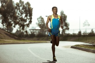 haile gebrselassie on a long run